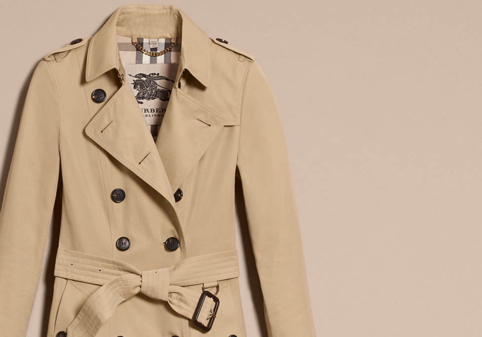 burberry trenches will never go out of style, so keep it clean!