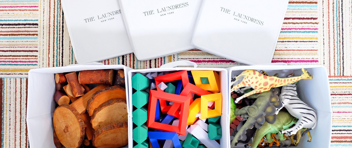 how to organize playrooms with the laundress storage boxes