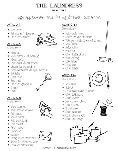 the little laundress chore chart and task list