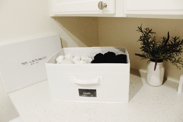 white storage box