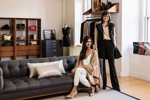 Cuyana co-founders in their showroom