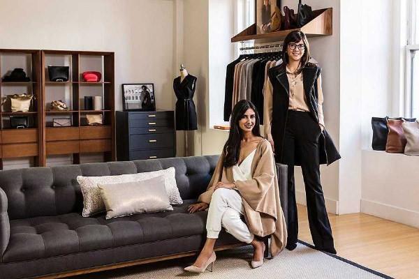 Cuyana co-founders in their showroom