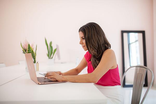 olivia in her office