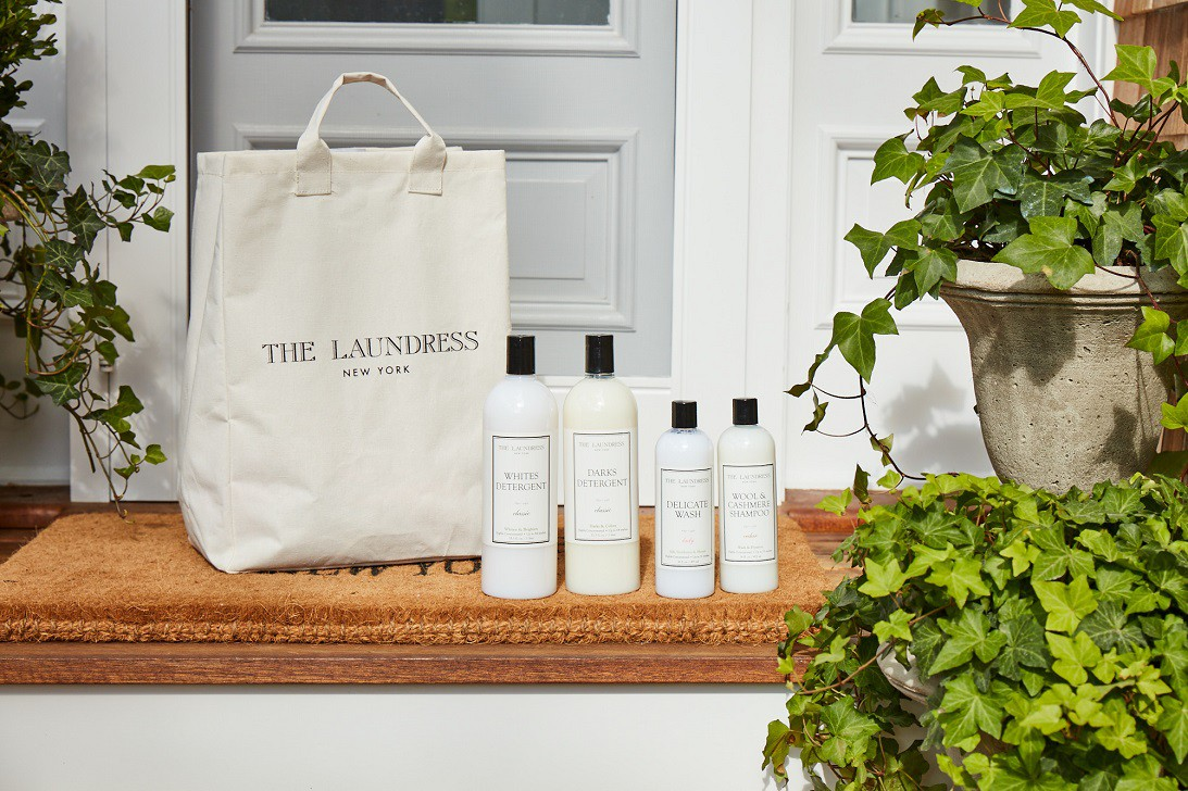 products on a porch next to tote bag