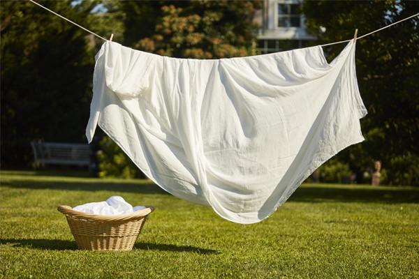 air drying linens
