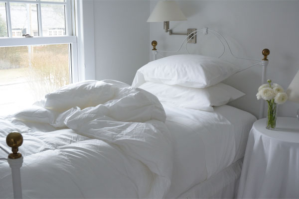 how to wash down bedding