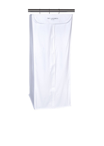 cotton hanging suit zip storage bag white