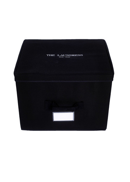 medium storage box black