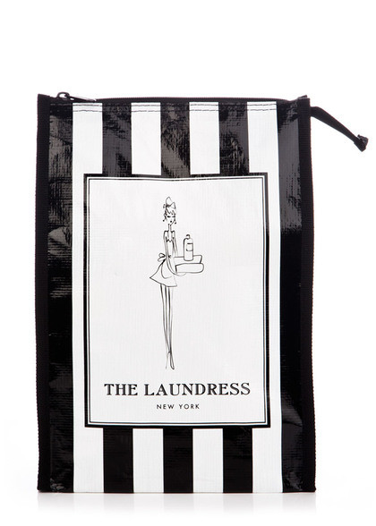 black & white striped gift bag