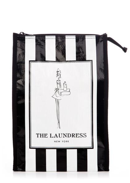 Black White Laundress Striped Gift Bags