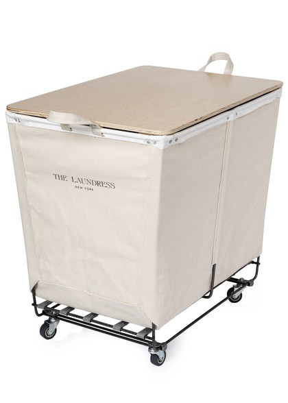Steele Canvas Triple Hamper With Folding Table by the Laundress